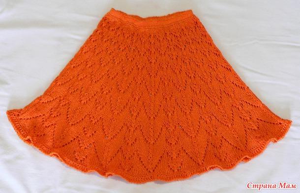"""Авторская юбочка для девочки """"Оранжевое настроение"""""""