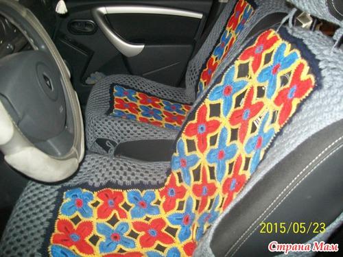 Вязание спицами чехлы для машины 17