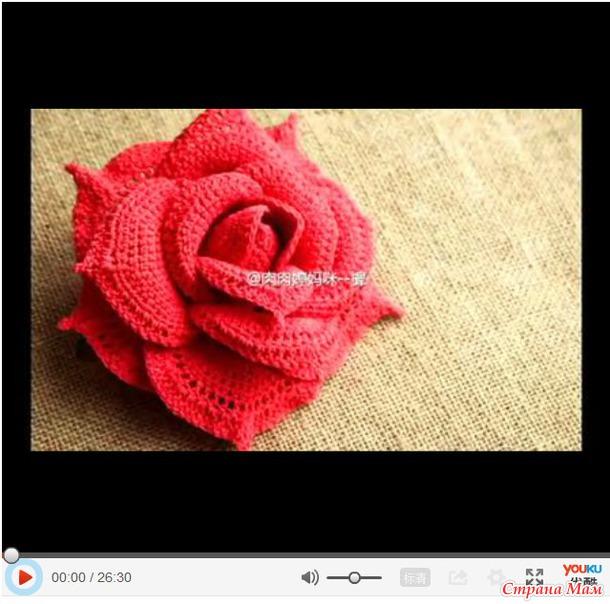 показано вязание роз.