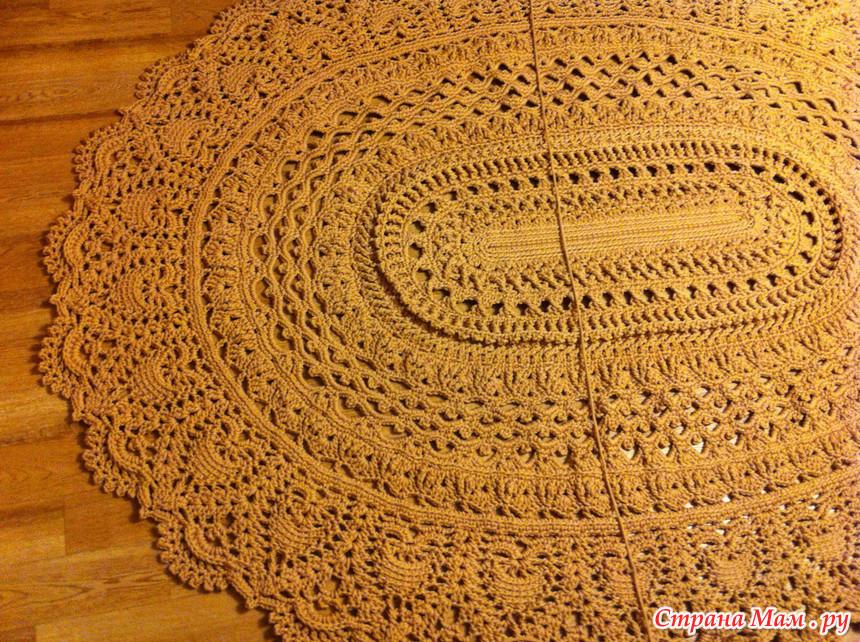 Вязание коврика майское чудо 806