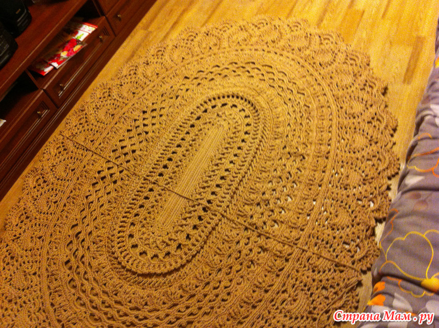 Вязание коврика майское чудо 174