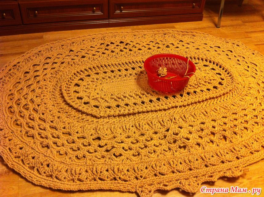 Вязание коврика майское чудо 110