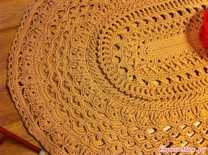 Вязание коврика майское чудо 136