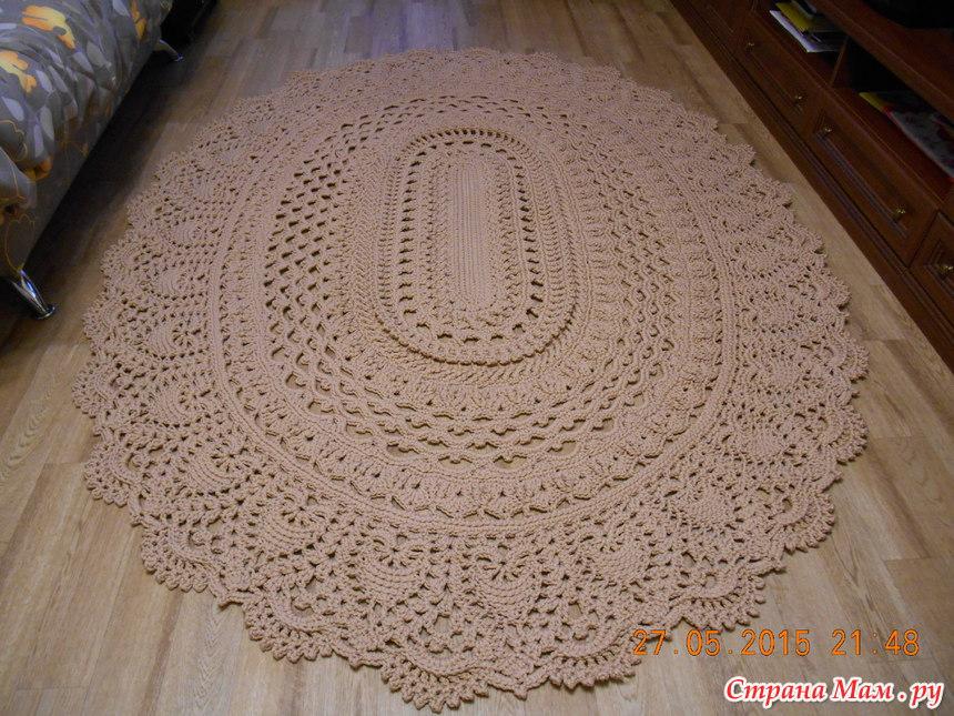 Вязание крючком коврик схемы с подробным описанием 17