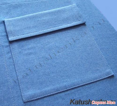 Схема прорезного кармана с двумя обтачками в рамку