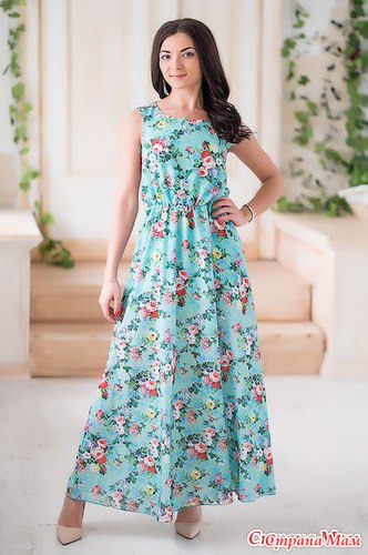 Платье-сарафан на резинке по линии талии