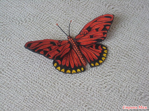 Бабочки из бумаги своими руками мастер класс страна мастеров