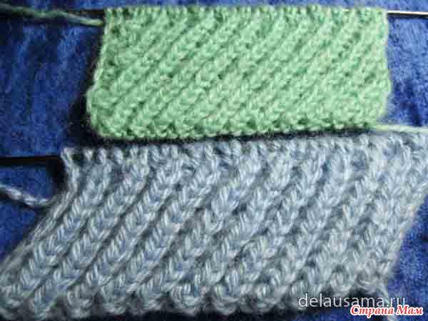 Вязание спицами узор резинка коса