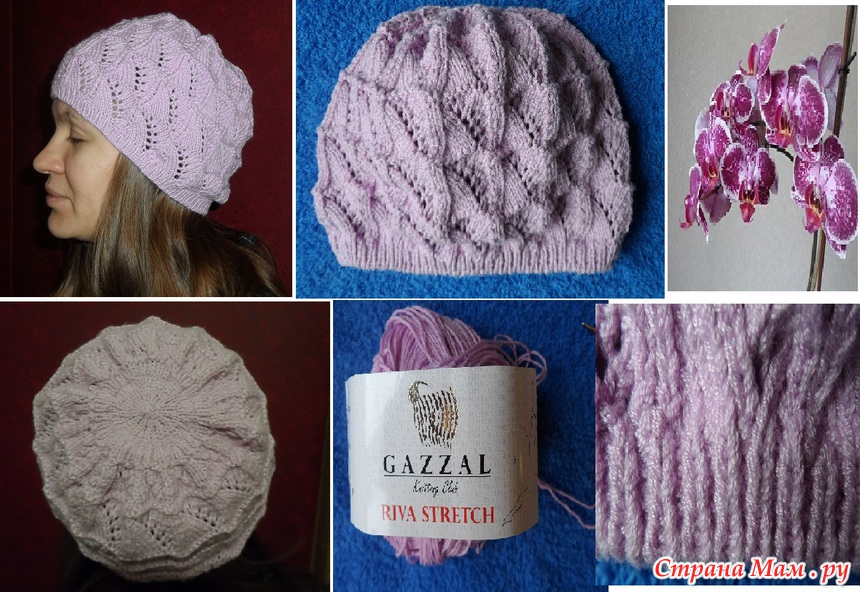 Вязание весенних шапочек спицами