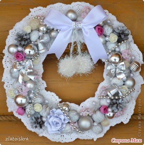 Рождественские венки своими руками из салфеток