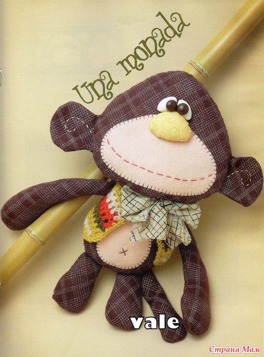 Мягкая игрушка обезьянка своими руками фото