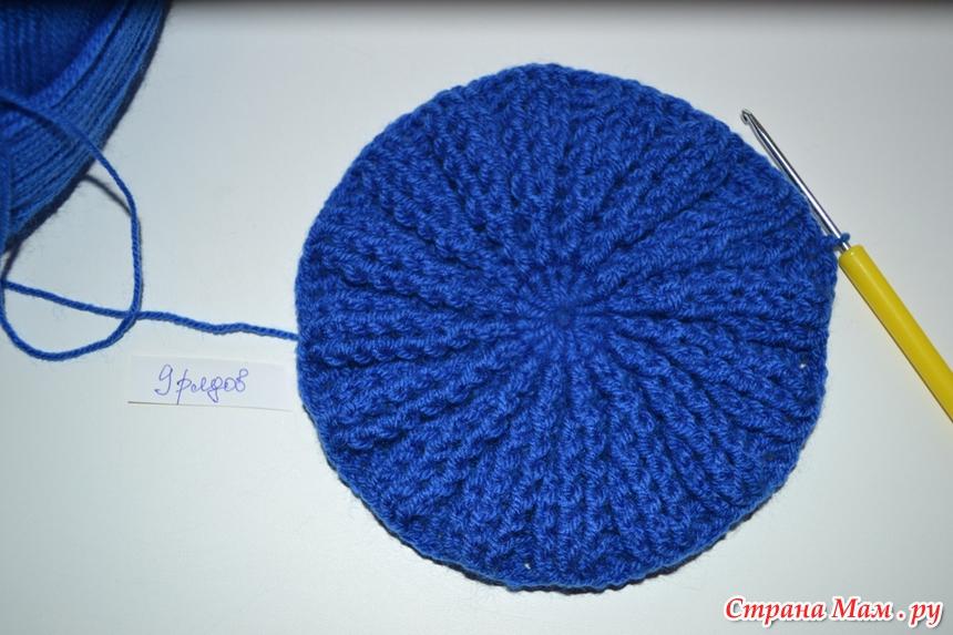 Вязание по кругу шапки 7