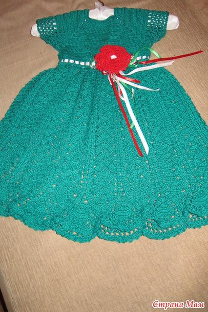 Платье для девочки 1.5 лет связать
