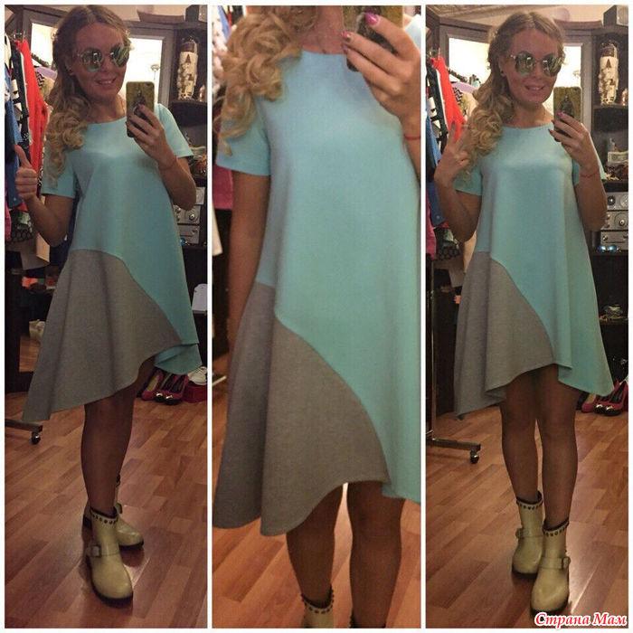 Ассиметричные платья моделирование