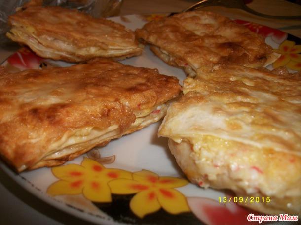 Закусочные тортики из лаваша