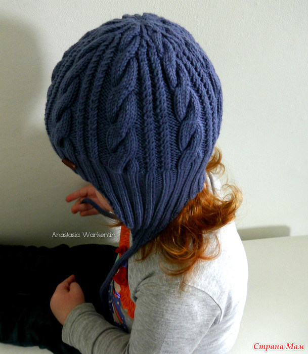 棒针编织保暖可爱型儿童脖套帽子