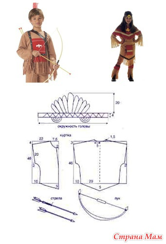 Сшить костюм индеец своими руками