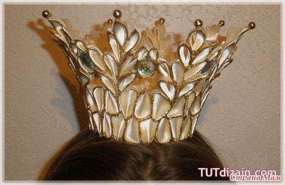 Новогодние короны канзаши своими руками