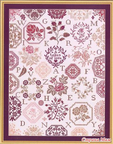 Схемы квакерской вышивки