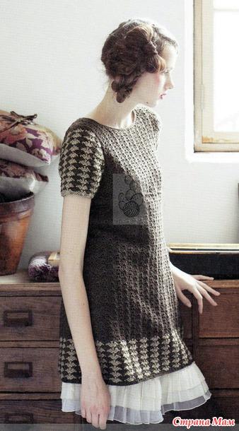 Ажурная туника или мини-платье.