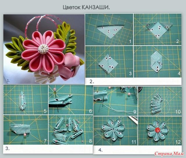 Схемы по изготовлению канзаши