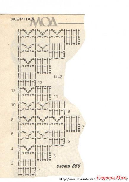 Шикарный блузон, филейное вязание (Журнал Мод №476)