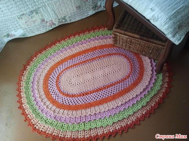. Прикроватный коврик в стиле Прованс.