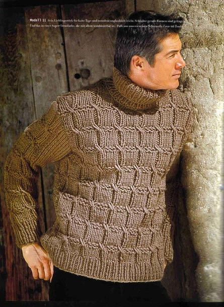 Мужественный пуловер