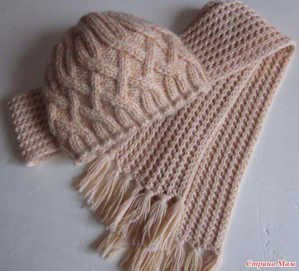 Шапка и шарф для дочери