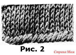 Набор начального ряда в вязании спицами 1