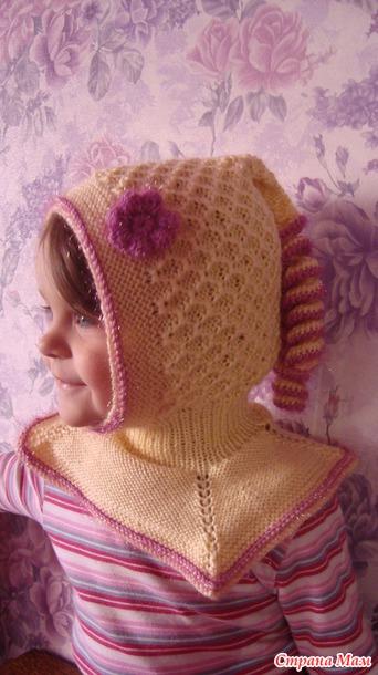 Шапочка-шлем для девочки.