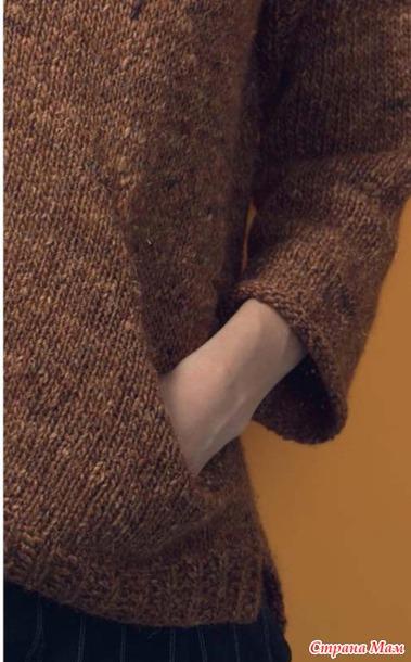 """Моя """"проба пера"""" по вязанию интересного кармана спицами."""