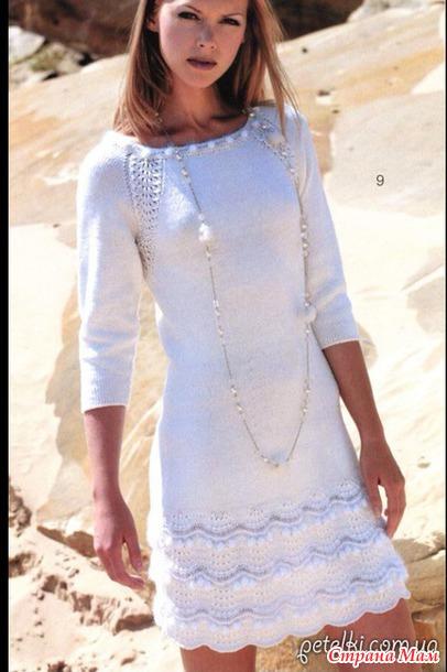 Белое платье на спицах