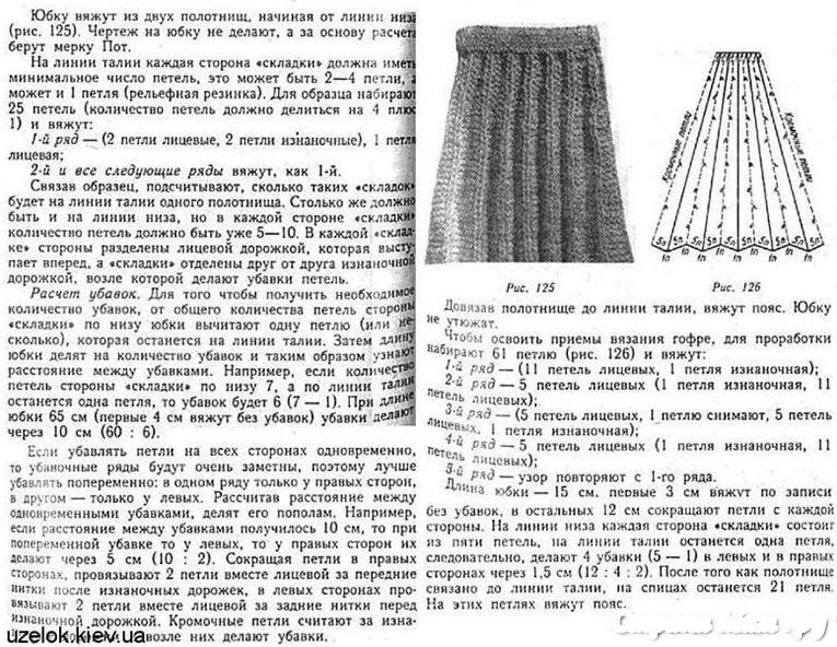 Детская юбка в складку схема вязания
