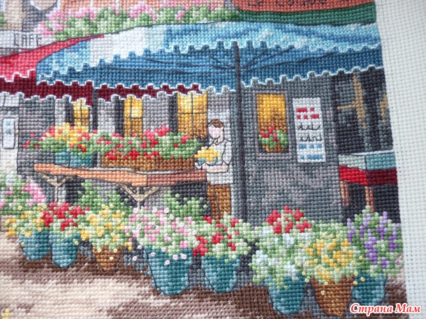 Рынок в париже вышивка