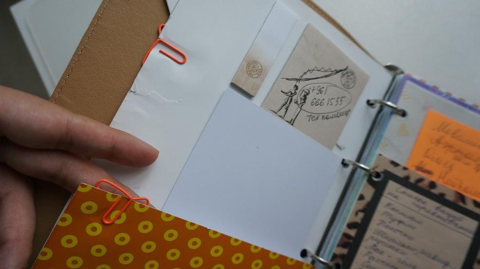 Ежедневник из тетради с кольцами своими руками