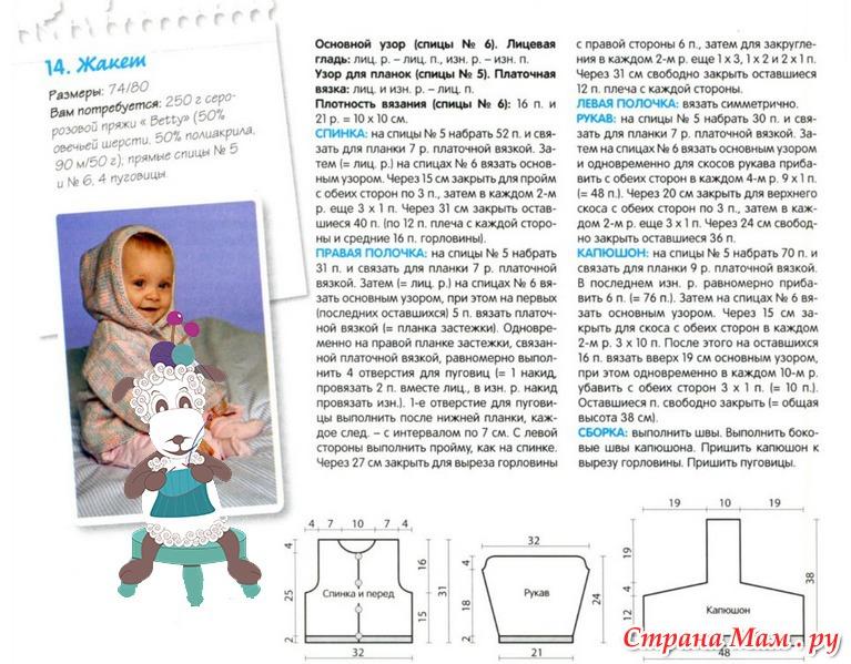 Капор для новорожденных спицами схемы и описание