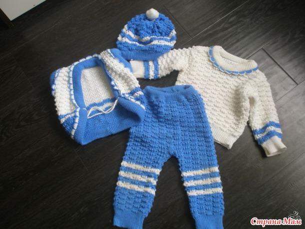 Вязание костюмчика на ребенка 1 год