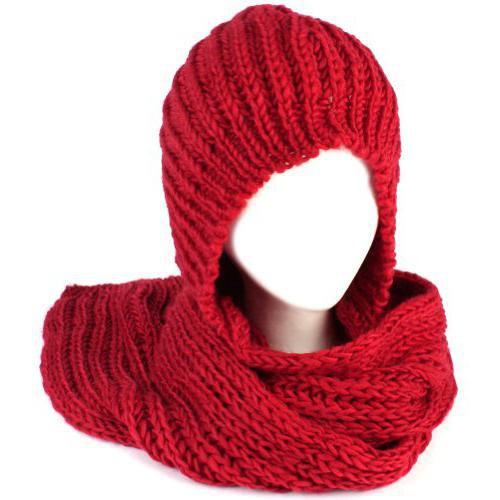 Вяжем капюшон-шарф спицами. Просто.