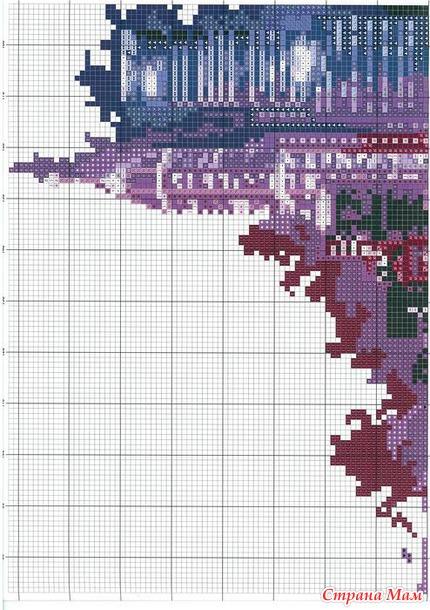 Схема вышивки ночной город 136