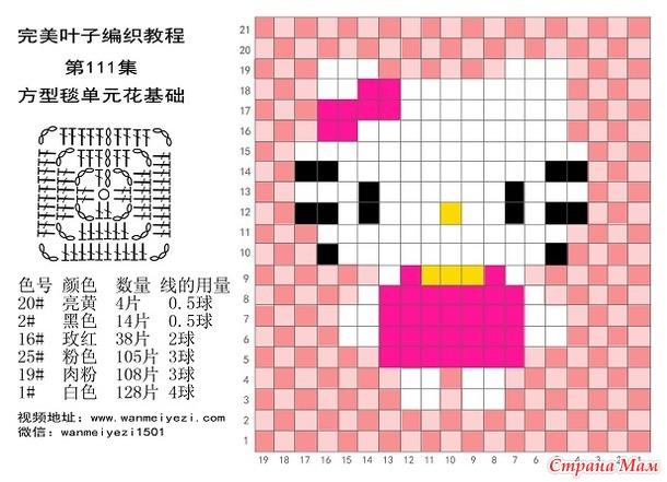 Детские пледы из мотивов (пикселей) крючком. Подборка со схемами.