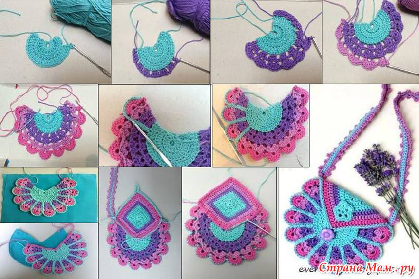 Сумочка для девочек вязание крючком