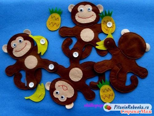Сделать обезьянок своими руками
