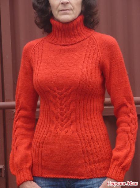 Алый свитерок.