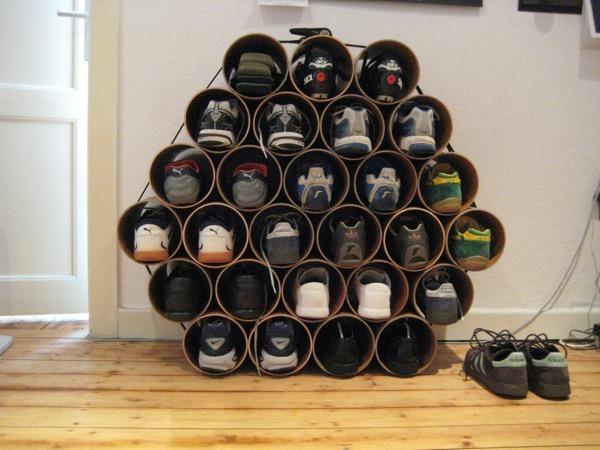 Полка для обуви своими руками из пластиковых бутылок