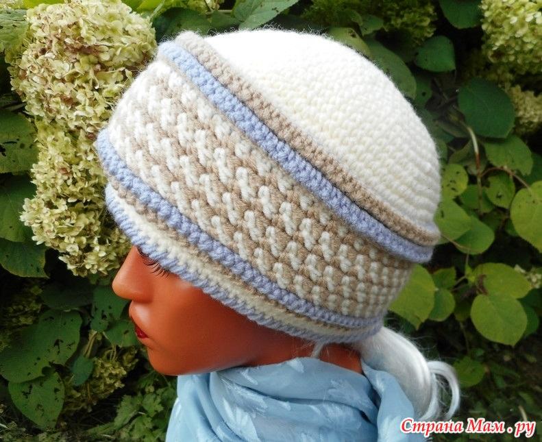 Вязание шапок от елены