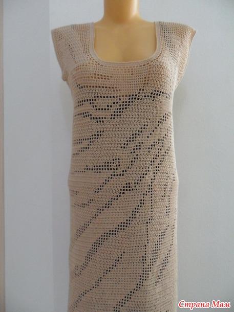 Подиумное платье (мое воплощение) или еще одно филейное платье...