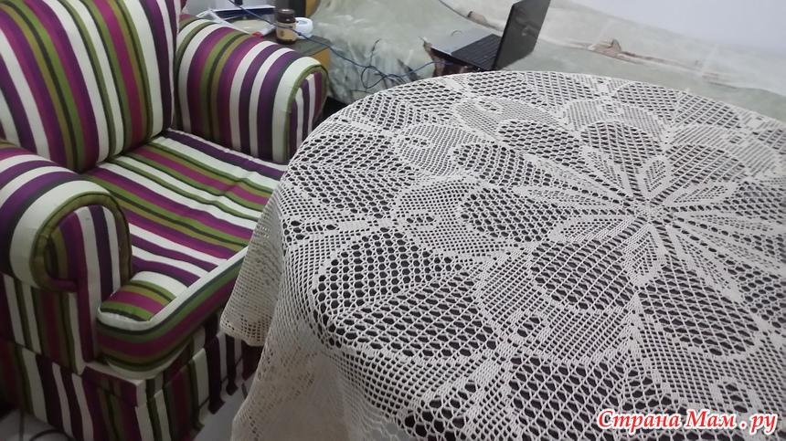Схема скатерти круглый стол фото 892