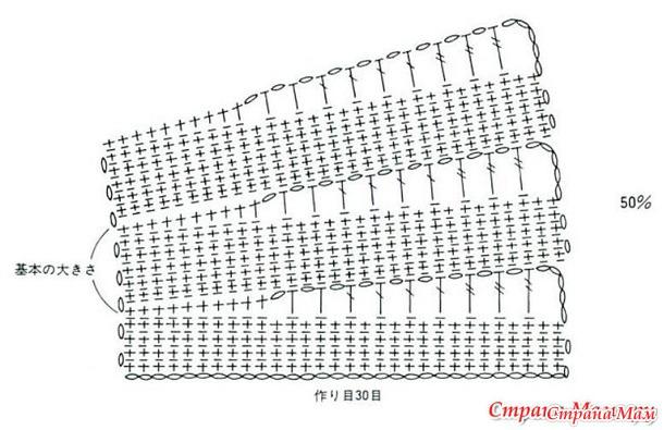 манишка детская схема вязания крючком охранное