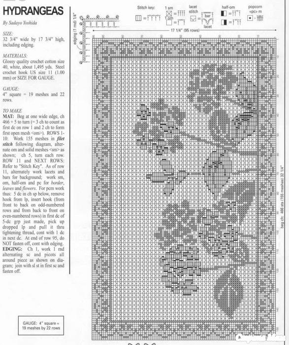 Филейное вязание схема ирис 570